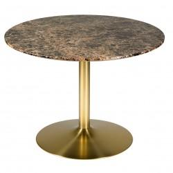 Table à manger ACHAM - Marbre & Laiton