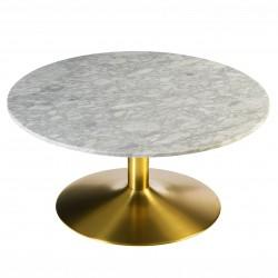 Table basse ACHAM - Marbre & Laiton