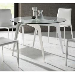 TABLE A MANGER CRISTAL RONDE