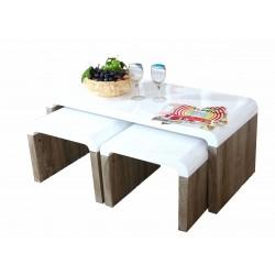 Ensemble de trois tables de salon GIGA