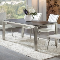 TABLE A MANGER CRISTAL RECTANGULAIRE