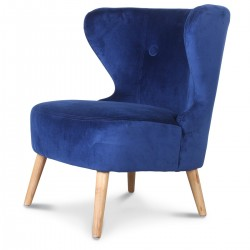 Lounge Velours Bleu