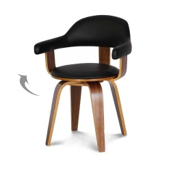 Chaise pivotante SWEDEN Walnut / Black
