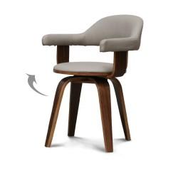 Chaise pivotante SWEDEN Walnut / Taupe