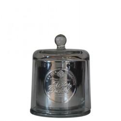 BOUGIE ARTISANALE Cloche verre soufflé - White Orchid 240g