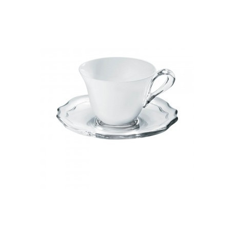 SET DE 6 TASSES BELLE EPOQUE BLANC