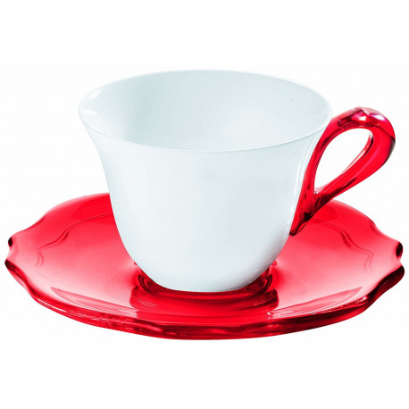 SET DE 6 TASSES BELLE EPOQUE ROUGE