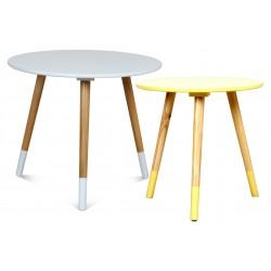 Duo de tables AZA BLANC-JAUNE