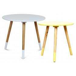 Duo de tables AZA BLANC-JAUNE