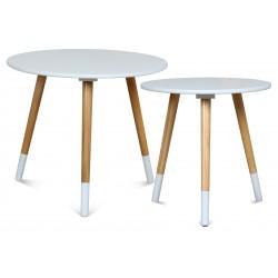 Duo de tables AZA BLANC-BLANC
