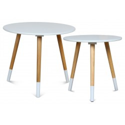 Duo de tables AZA BLANC-BLANC