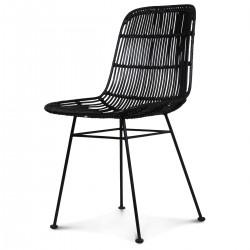Chaise Rotin tressé TANIA - BLACK