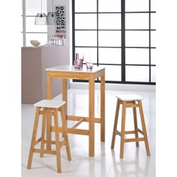 Ensemble table et 2 tabourets RENZO