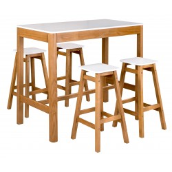 Ensemble table ET 4  tabourets RENZO
