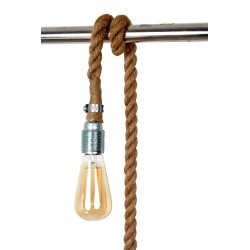 SUSPENSION Douille Vinty Corde naturelle 300cm
