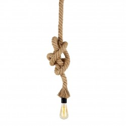 SUSPENSION Douille Vinty Corde naturelle 150cm