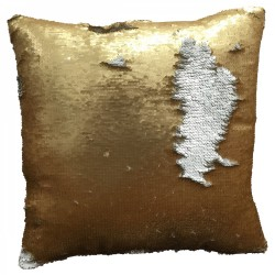 Coussin CHIC Or mat & Argent