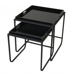 Duo de tables plateau SERVY Black