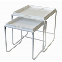 Duo de tables plateau SERVY White