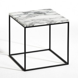 Table ou Chevet en Marbre blanc Carrare SQUIZZ