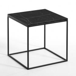 Table ou Chevet en Marbre noir Impérial SQUIZZ