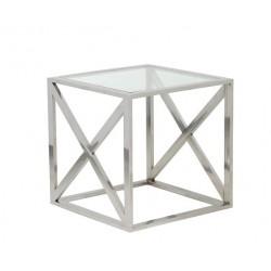 Table KINE carrée en Nickel poli