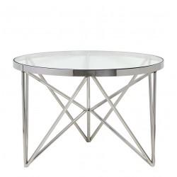 Table KINE ronde en Nickel poli