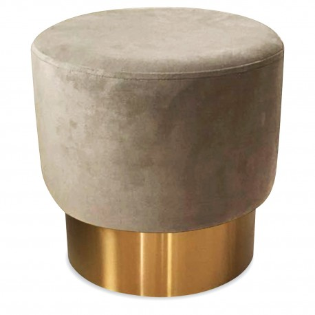 Tabouret YOAN Velours - Taupe