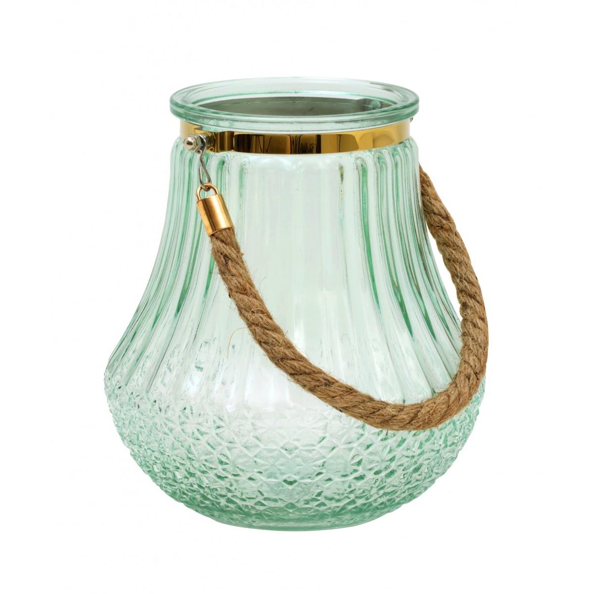 photophore vase verre souffl grav light green gold. Black Bedroom Furniture Sets. Home Design Ideas
