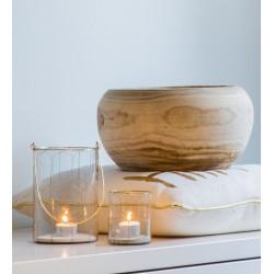 Vase / Contenant BIO en bois massif sculpté