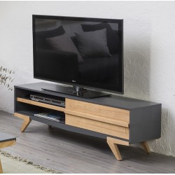 CANDY - Meuble TV Anthracite