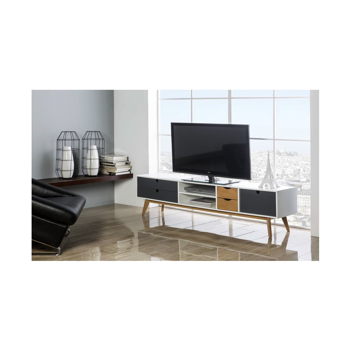 Meubles Tv Lemobilier Ma # Table Basse Et Meuble Tv Assortis