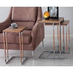 Trio de tables Gigognes - CABO / Finition au choix
