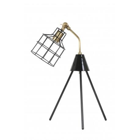 Lampe tripod à poser ALBAN - Bronze & Noir laqué