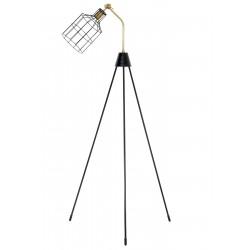 Lampe tripod sur pied ALBAN - Bronze & Noir laqué