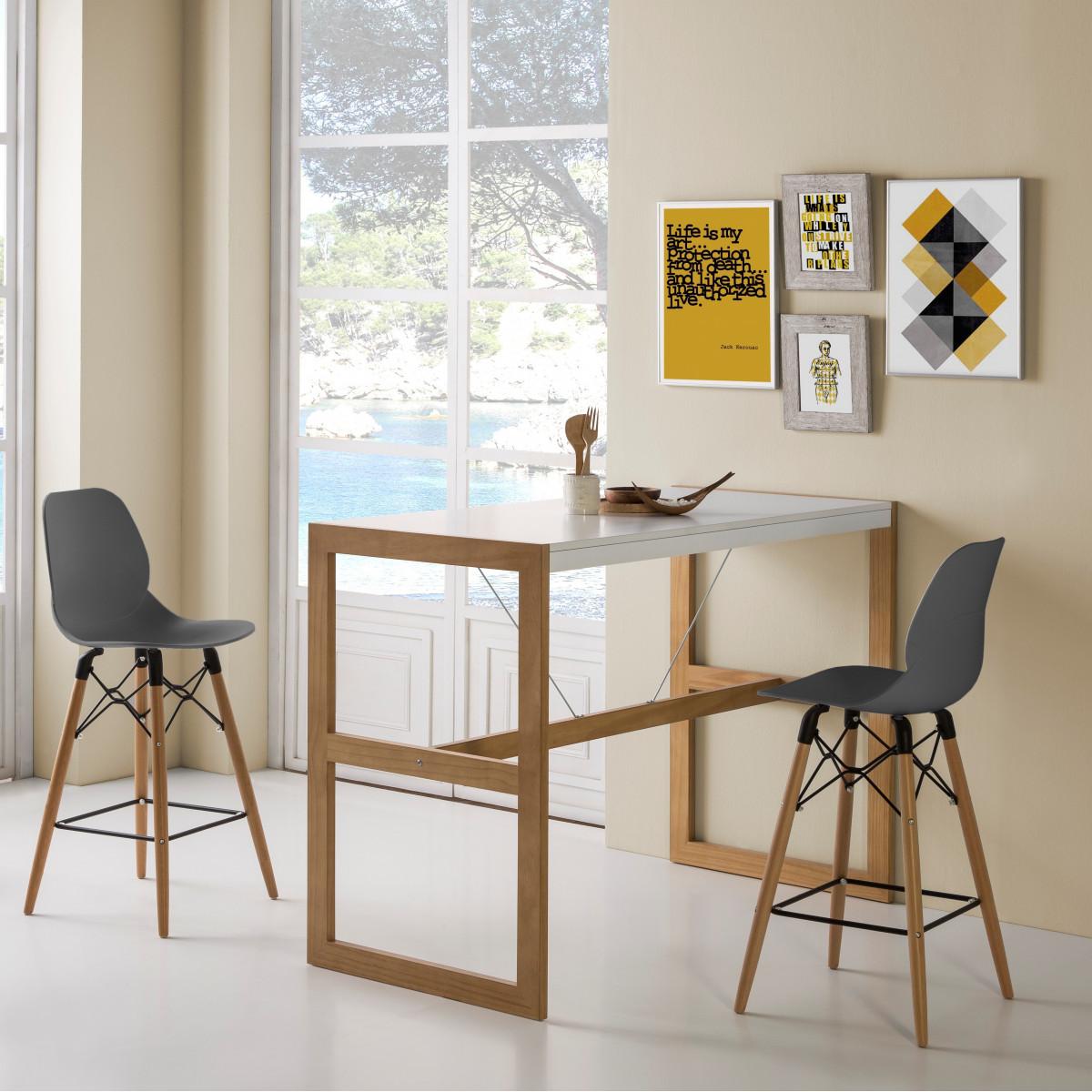 table haute kubikon blanc. Black Bedroom Furniture Sets. Home Design Ideas