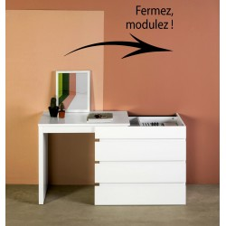 Commode - Bureau ELIX White Pearl