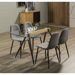 Ensemble Table & Chaises LUNA piqué