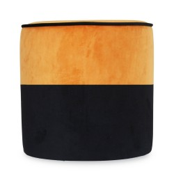 Tabouret CHABA Velours - Black & Honey