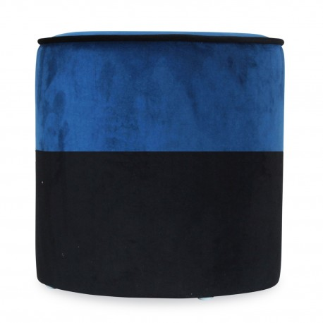 Tabouret CHABA Velours - Black & Navy Blue
