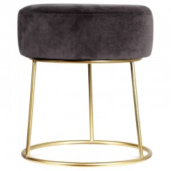 Tabouret STUART Velours - Dark Gray