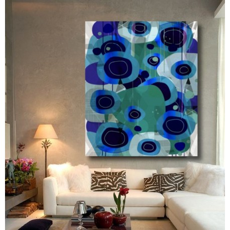 "Toile ""POP BLUE"" by KUNST"