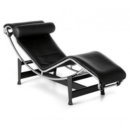 Chaise longue CORBU Cuir de Vachette noir