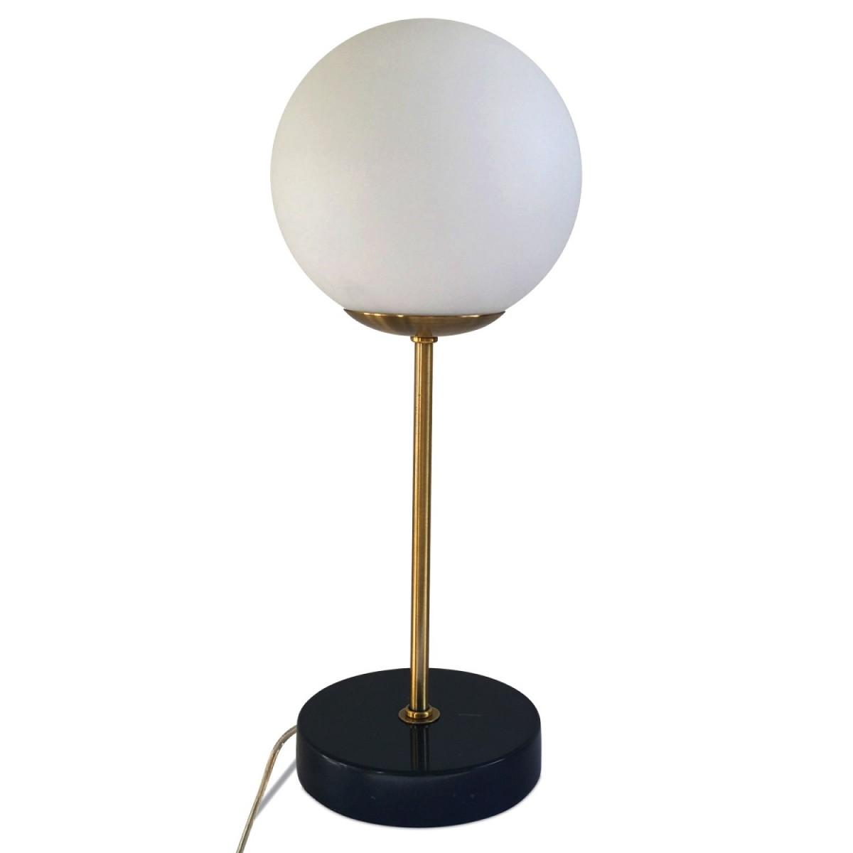 Lampe A Poser Decart Marbre Noir Laiton Lemobilier Ma
