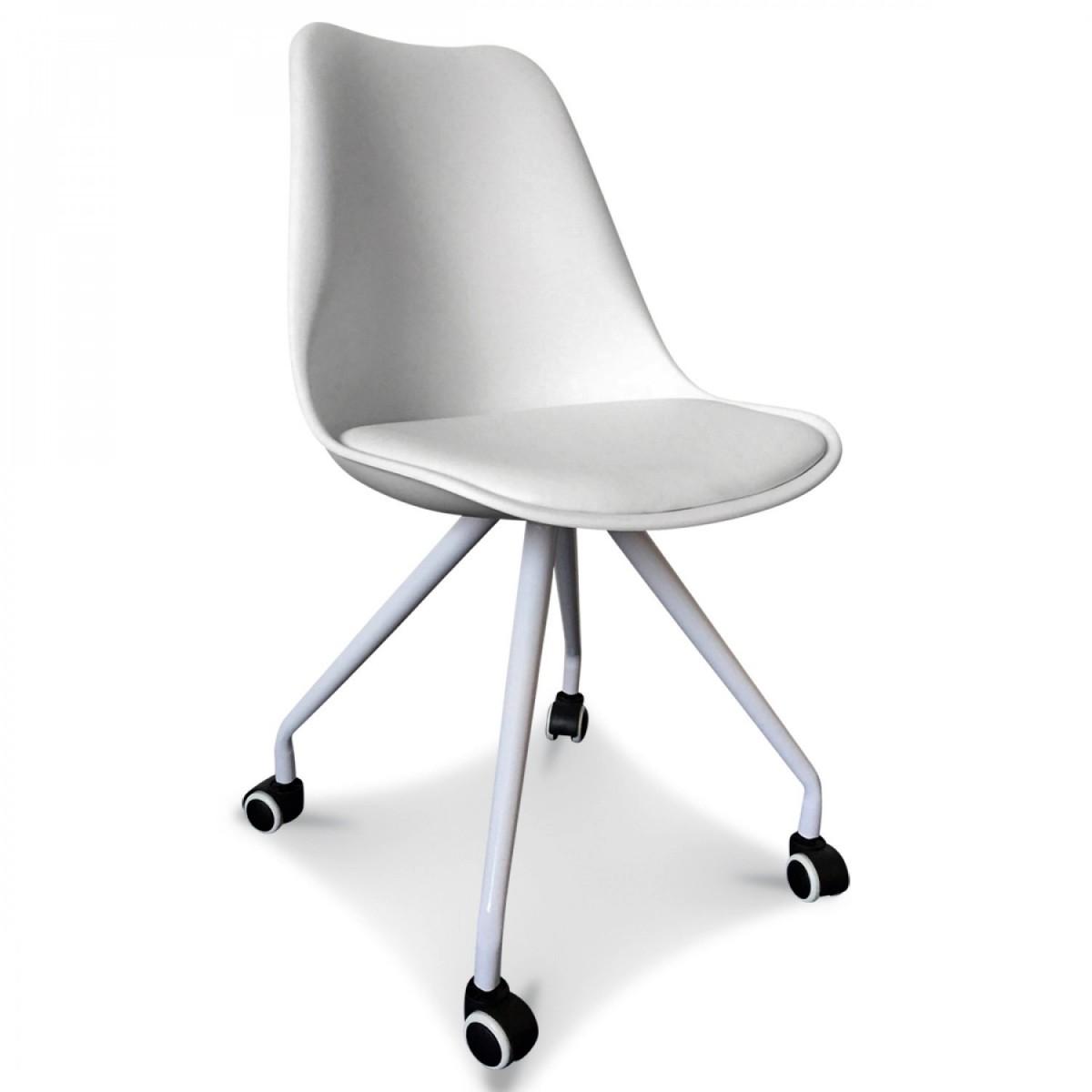 chaise de bureau northy blanche. Black Bedroom Furniture Sets. Home Design Ideas