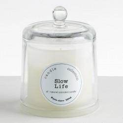 BOUGIE ARTISANALE Cloche verre soufflé xxL - SLOW LIFE - Pomme & Cannelle 440g