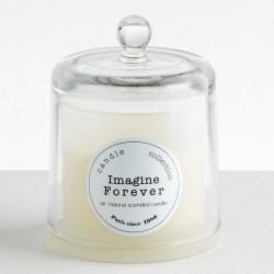 BOUGIE ARTISANALE Cloche verre soufflé xxL - IMAGINE FOREVER - Ambre du Maroc & Tubéreuse 440g