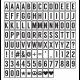 Boîte d'affichage lumineuse 32x25cm - Silver - 100 Lettres