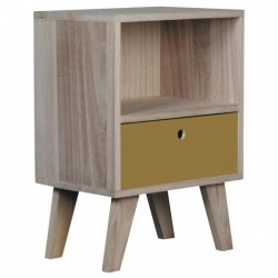 Table de chevet BARRY 1 tirroir Small - Miel