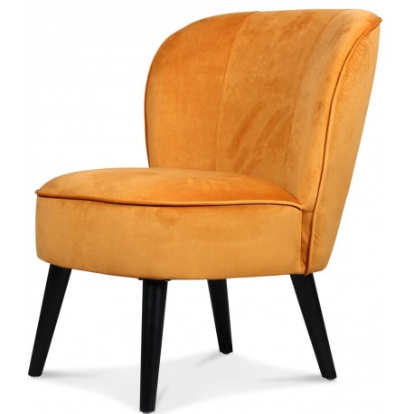 Fauteuil Crapaud JUDE - Velours Miel